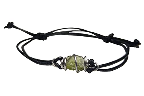 Real Raw Moldavite Piece Wire Wrapped Cage...