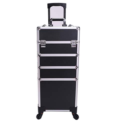 Lamshine professionale extra large cosmetici bellezza trucco trolley caso universale ruote 4 in 1...
