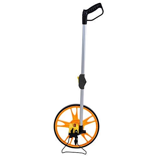 Messräder, Entfernungs-Strecken-Messrad 0-9999.9M hohe Präzision Faltbares Mechanisches Messrad, mit Tragetasche, für Straßenbauer, Vermessungsarbeiter, 12.6 Zoll Raddurchmesser