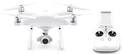 DJI - Drone Phantom 4 PRO V2.0 I Fotocamera da 20 MP e Video in 4K I Rileva e Evita Ostacoli I Tempo di Volo 30 Minuti I Leggero e Potente - Bianco