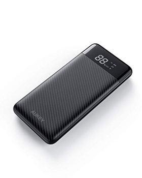 AUKEY Batterie Externe 10000mAh USB C Power Bank avec 3 sorties et 2 entrées pour iPhone11/Pro/XS, Samsung note 10, Nintendo Switch, etc.