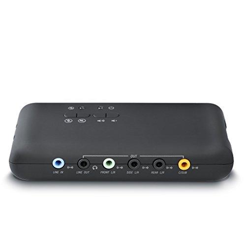 CSL - USB 7.1 Soundkarte extern 8-Kanal - Channel USB Soundbox - Dynamic 3D Surround Sound - für bis zu 8 Lautsprecher - gleichzeitige Aufnahme und Wiedergabe - analoge und Digitale Audiogeräte