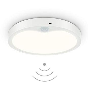 Anten Meldi 1 pièces | Plafonnier LED pour l'intérieur avec détecteur de mouvement et capteur de lumière du jour | Rond 18 W | 4000 K jusqu'à 1800 lm | Ø 22,5 cm | Design plat