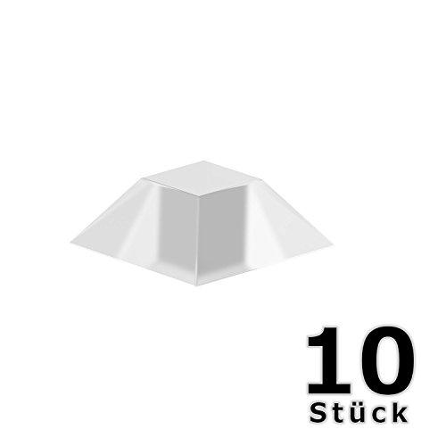 hang-it Wandpuffer in transparent - Set 10 Stück Abstandshalter aus PU - selbstklebend - 20mm x 7,5mm