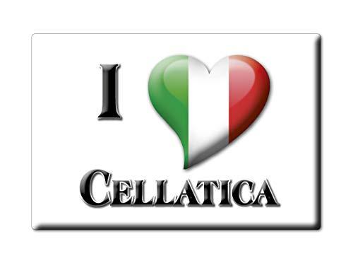 Enjoymagnets CELLATICA CALAMITA Magnete Lombardia (BS) Italia Fridge Magnet Souvenir I Love (VAR. Goccia)