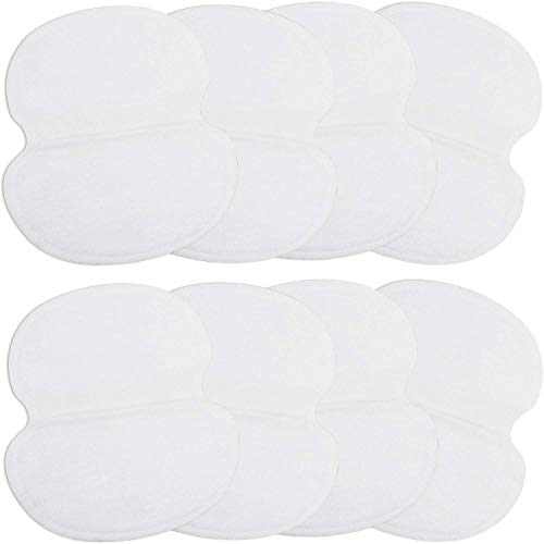 100 Pack Underarm Sweat Pads Disposable Armpit Sweat Pads Fight Hyperhidrosis Dress Shields Non-Visible Perspiration Absorbing Pads for Men and Women