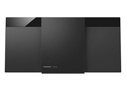Panasonic Micro Chaine HiFi Bluetooth SC-HC300EG-K Lecteur CD, Radio FM, 20W, Auxiliaire Auto-Play, Design Moderne, Fixation Murale, Noir - Version Française