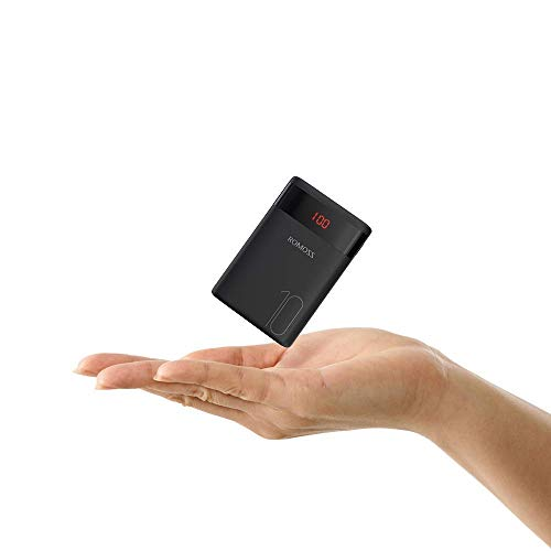 Romoss Mini Power Bank 10000 mAh Leggera, Caricatore Portatile Rapida (3.2A Total) con 2 Ingressi e 2 Uscite, Alta Compatibilità con Tutti i Telefoni Cellulari