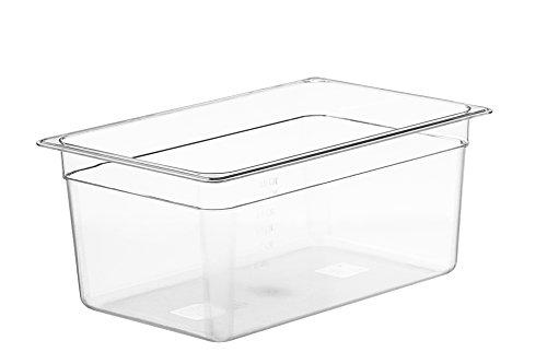 LIPAVI Contenitore Sous Vide Modello C15 – 18 Litri | Policarbonato resistente e trasparente. Si abbina con i coperchi per Anova, Joule e altri. 44,8 X 29,1 Altezza 20 cm.