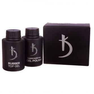 KODI PROFESSIONAL BEST TWIN SET | Rubber Base 35ml + Rubber Top 35ml | 1.18 oz without brush Gel LED/UV Nail Polish Coat Soak Off | Original Product |