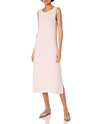 This versatile and figure-flattering dress in cozy material is sure to become one of your go-tos This bateau neck midi dress is sleeveless and comes in a standard-fit Cozy Knit's extraordinarily soft brushed surface and perfect amount of stretch keep...