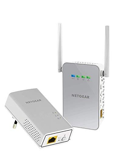 Netgear PLW1000-100PES - Kit de adaptadores Powerline Gigabit (1 Puerto Ethernet℗ Gigabit, Punto de Acceso WiFi, AC 1000 Mbps), Blanco
