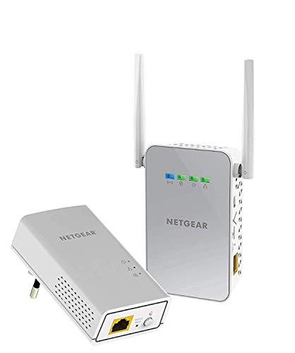Netgear PLW1000-100PES Adattatori Powerline AV1000, Wireless AC Dual Band, 2 Porte Gigabit Totali, 2...