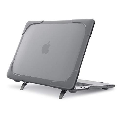 MOSISO MacBook Pro 13 インチ ケース 2020 Touch Bar & Touch ID付き A2251 A2289対応 プラスチック ハードケース 頑丈 シェルカバー 折りたたみ式 キックスタンド付き(グレー)