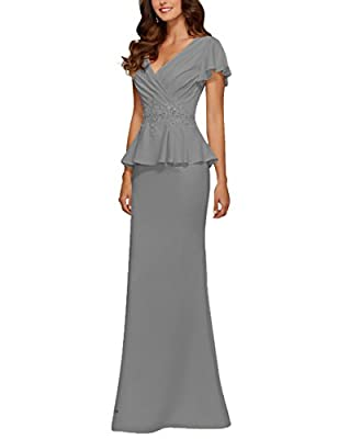 Features:Maxi Long Floor Length Style;Sleeveless;V Neckline;Fabric Chiffon and Bead Applique. Fabric: High quality chiffon fabric,comfortable to wear. Size Note: Different 1-3cm is allowed due to the different measurement method .When you received th...