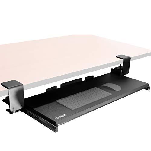 Duronic DKTPX1 Tastaturhalterung/Tastaturauszug/Tastaturauszug für Keyboard und Maus – Bietet eine weitere Schublade für die Tastatur unter dem Schreibitsch - Robuste und langlebige Konstruktion
