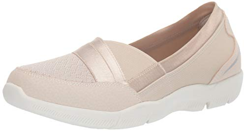Skechers Be-Lux-Daylights, Merceditas Mujer, Beige (Nat Black Mesh/Durabuck/Trim), 39.5 EU