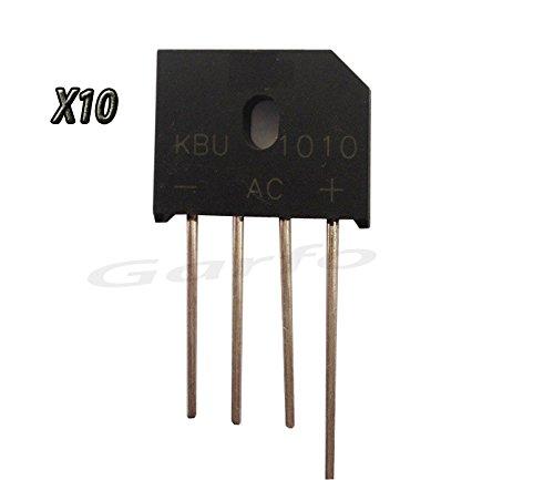 10 Unidades Puente Diodo Rectificador KBU1010 DIP-4 4 PIN 1000V 10A