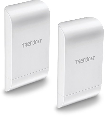 TRENDnet 10dBi Wireless N300 Outdoor PoE Pre-configured Point-to-Point Bridge Bundle Kit, TEW-740APBO2K, 2 x Pre-configured Wireless N Access Points, IPX6 Rated Housing, Built-in 10 dBi Antennas