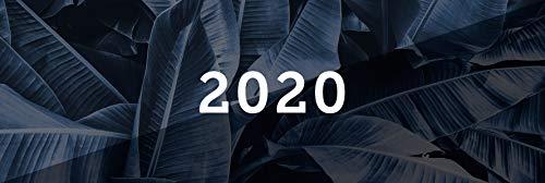 Tischkalender 2020 schwarz, Querkalender Querterminbuch 2020, 1 Woche auf 2 Seiten, 112 Seiten, 297 x 130 mm, Quer, Terminkalender, Karton, ... inkl. Adress-Notizseiten, Wire-O-Bindung