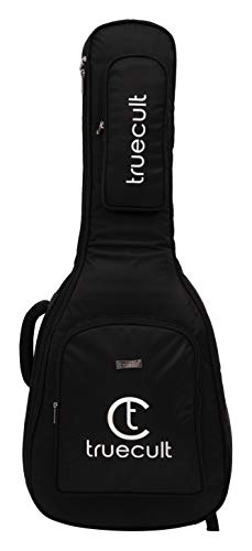 True Cult Acoustic Guitar Bag/Cover with Foam Padding {Black} Strong and Durable for all sizes and shapes folk/classical guitars 38', 39', 40', 41'