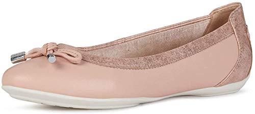 Geox Mujer Bailarinas, Merceditas D Charlene, señora Bailarinas Clásicas, Zapatos Planos,Zapatos del Verano,Elegante,DK Rose,39 EU / 6 UK