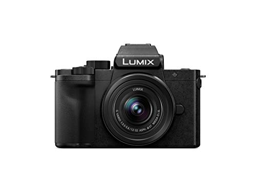 Panasonic LUMIX G100 4k Mirrorless Camera, Lightweight Camera for Photo and Video, Built-in Microphone, Micro Four Thirds with 12-32mm Lens, 5-Axis Hybrid I.S, 4K 24p 30p Video, DC-G100KK (Black)