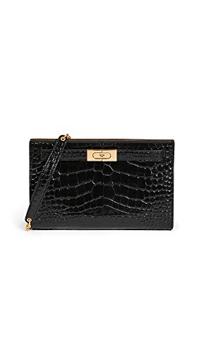 31UzshbOFWL Leather: Croc-embossed cowhide Gold-tone hardware, Structured silhouette Length: 9.5in / 24cm