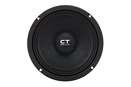 CT Sounds 8 Inch Car Audio Speaker - Midrange, 4 Ohm Impedance, 60W (RMS) | 180W (MAX) Power Per Speaker, 1.5' Voice Coil, Shallow ProAudio (1 Speaker)  Tropo PA 8
