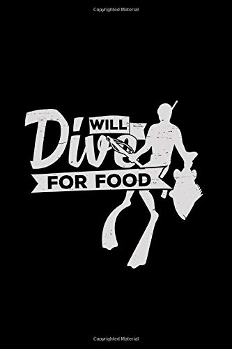 Will dive for food: 6x9 Spearfishing   dotgrid   dot grid paper   notebook   notes