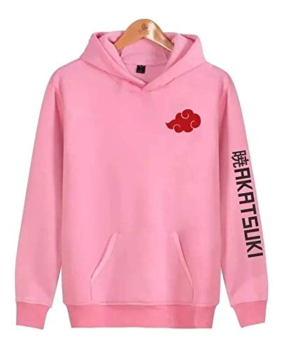 Blusa moletom naruto nuvem akatsuki anime canguru (rosa, g)