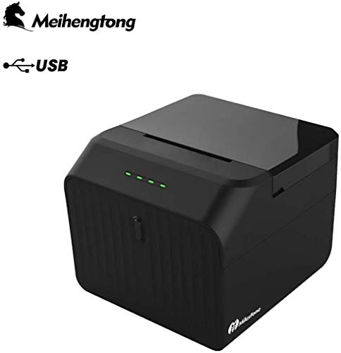 Stampante Termica per Ricevute con Porta USB e Cassetto per Contanti, 100m/s Mini Stampante per...