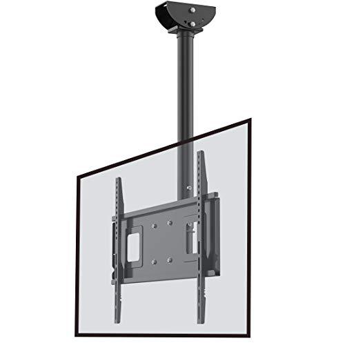 Loctek TV Ceiling Mount TV Bracket Hanging Adjustable Tilting Bracket Fits 32-65 Inch LCD LED Plasma Flat Panel Screen Display, up to 132 lbs, VESA 600x 400mm