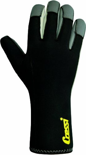 Cressi Svalbard, Guanti in Neoprene 6 mm Unisex Adulto, Nero, L