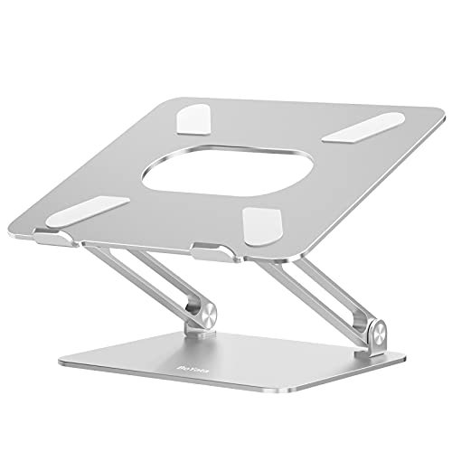 BoYata - Soporte para portátil (multiángulo, Elevador con ventilación térmica), Compatible con portátiles de 10-17 Pulgadas con MacBook Pro/Air, Surface, Samsung, HP Notebook (Color Plata)