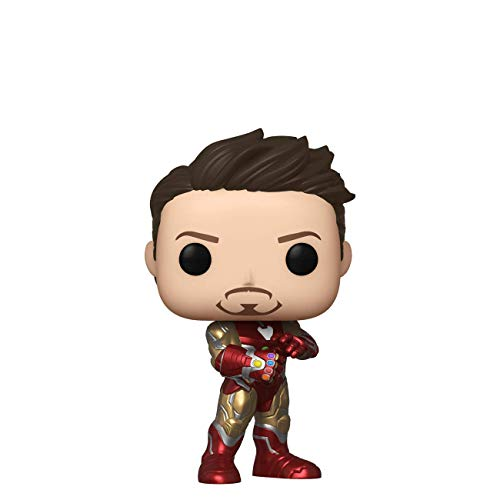 Funko Pop! Marvel: Avengers Endgame – Tony Stark (Iron Man 3) con Guante, Otoño Convención...