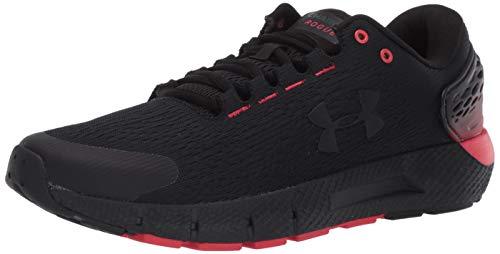 Under Armour Men UA Charged Rogue 2 Comfortable Jogging Shoes, Gym Shoes, Black (Black/Versa Red/Black), 9 UK 44