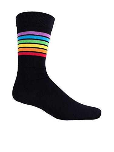 Men's Multicolored Rainbow Socks - Pride Day Socks for Men