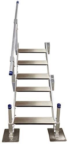 Boondock Aluminum Dock Steps With Handra Buy Online In Barbados   Aluminum Steps With Handrail   Boat Dock   Wheelchair Ramp   Stair Treads   Folding   Stair System