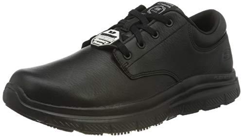 Skechers Flex Advantage Sr Fourche, Zapatos de vestir para uniforme para Hombre, Negro (Black), 41 EU