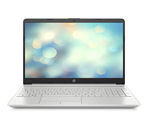HP 15-dw1001ng (15,6 Zoll / Full HD) Laptop (Intel Core i7-10510U, 16GB DDR4 RAM, 512GB SSD, Intel HD Grafik, Windows 10 Home, Fingerabdruckleser) silber