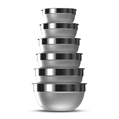 Zpoka- ciotole in acciaio inox, ciotole impilabili, con finitura opaca e a specchio, set da 6