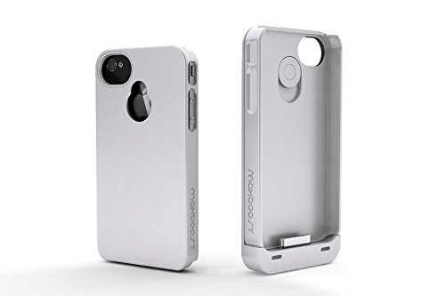 Maxboost iPhone 4S Battery Case/iPhone 4 Battery Case (1900mAH, Fits All Versions of Apple iPhone 4 & 4S) - Detachable Battery Charger Case External Rechargeable Battery Pack Charging Power Case