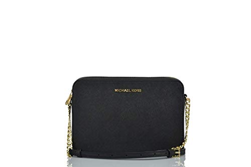 31W29DDD FL Beautiful and durable saffiano finished leather with polished hardware Lined interior with padded open slip pocket on back wall and open slip pocket on the front wall Zippered top closure with Michael Kors iconic logo on the front