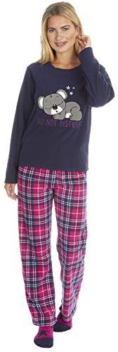 KATE MORGAN - Pijama - para mujer Azul Koala con calcetines S
