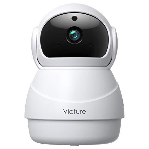 [Nuova Versione] Victure Home 1080P Telecamera Wifi con Rilevamento del Suono Telecamera di Sorveglianza Interna con Visione Notturna, Monitoraggio del Movimento