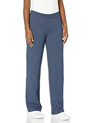 """Open-bottom sweatpant featuring broad knit waistband No pockets. Low pill fabric 29"""" inseam Available in petite and regular lengths"""