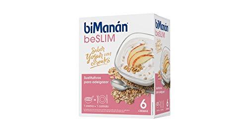 BiManán beSLIM - Crema Sustitutiva Sabor Yogur con Cereales, para ayudarte a controlar tu peso - 6 Unidades x 312g