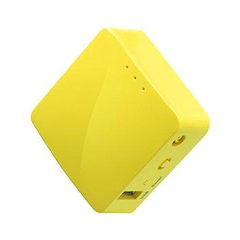 GL-iNet GL-MT300N-V2(Mango) Sans fil Mini Portable VPN Routeur Voyage , Hotspot Mobile dans la poche ,Pont Répétiteur WiFi , Limite d'extenseur , Client OpenVPN, 300bps Haute Performance , 128MB RAM