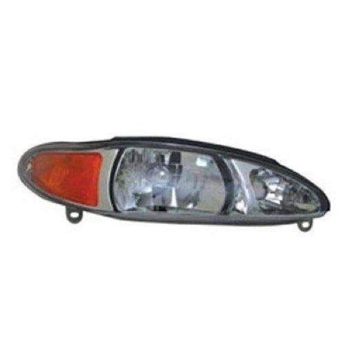 Go-Parts - for 1997 - 2002 Mercury Tracer Front Headlight Assembly Housing / Lens / Cover - Right (Passenger) Side - (4 Door; Sedan + 4 Door; Wagon) XS4Z 13008 AA FO2503137 Replacement 1998 1999
